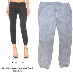 Bella Dahl Grey Utility Front Lace Up Joggers 29